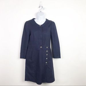See By Chloe Navy Blue Cotton Long Sleeve Dress 6